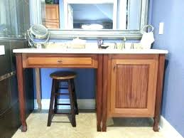 Double Sink Vanity With Dressing Table by Bathroom Vanity With Makeup Table Double Sink Bathroom Vanity With