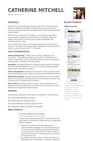 Corporate Communications Resume Samples 14 Pretty Design Consultant VisualCV
