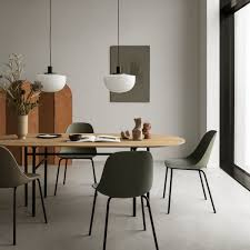 menu snaregade dining table oval 210 x 95 cm black oak veneer stained