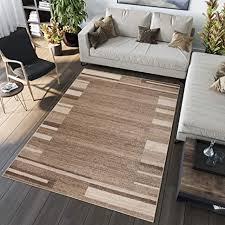 tapiso sari teppich kurzflor teppiche meliert in modern beige braun creme designer bordüre abstrakt streifen linien muster perfekt für