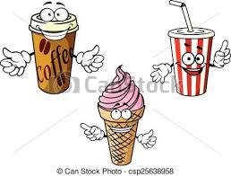Takeaway Cartoon Coffee Soda Ice Cream