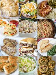 Collage Of 12 Easy Dinner Recipes