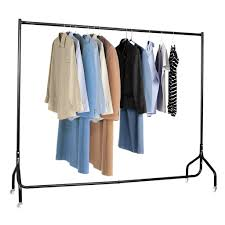 Furniture Clothes Rack Unique Voilamart Metal Garment Display Rolling Home Portable