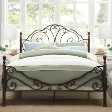White Wrought Iron King Size Headboards by Stylish Wrought Iron Frame King Modern Beds Design Bedroom Metal
