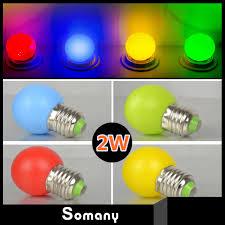 color small led light bulb 2w 10pcs lot warm white cold