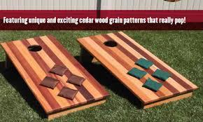 Cedar Wood Bean Bag Toss Game
