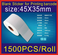 100 Goodsell Truck Accessories US 268 1500pcs Size45mm X35 Mm Coated Paper Adhesive Blank Sticker Barcode Printing Paper Good Sell In Chinain Stickers From Home Garden On