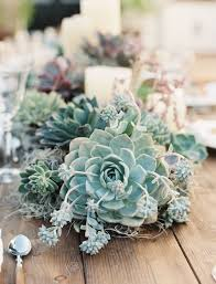 Eye Popping Spring Wedding Centerpieces With Succulent