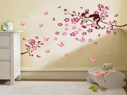 autocollant chambre fille rainbow fox wall decal jungle forest and giraffe squirrel avec