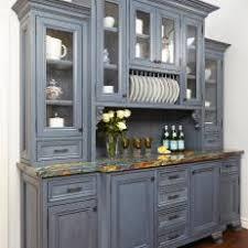 Gray Kitchen Hutch Adds Storage To