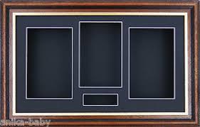 Image Is Loading Large 3D Mahogany Gold Shadow Box Display Amp