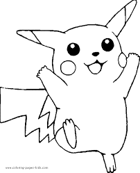 Pikachu More Free Printable Cartoon Character Coloring Pages
