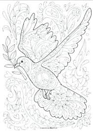 Coloring Pages Dove Page Colouring Doodle Bird