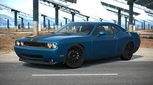 Buy A SRT Challenger SRT8 08 Change The Oil And Reinforce Chassis Used Colors For Picture Car Blue Fire Metallic AAR Cuda Wheel Black