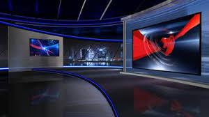 Virtual News Studio Stock Video