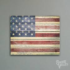Distressed Rustic American Flag
