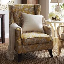 alec wing chair gold floral pier 1 imports soft furnishings