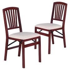 Upholstered Dining Chairs Set Of 6 by Stakmore Music Back Upholstered Folding Chair Set Of 2 Cherry