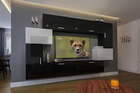 möbel für wohnzimmer schwarz weiß und glänzend orlean nx 6