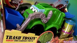 99 Chuck And Friends Tonka Trucks Play Doh Trash Tossin Rowdy The Garbage Truck