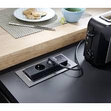 prise encastrable plan de travail cuisine prise rectangulaire push rotatif 2 prises usb cuisine