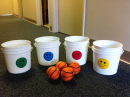 Children Toss A Ball Or Bean Bag Into The Bucket Identify Feeling And Share Time That Experienced I Also Found Balls At