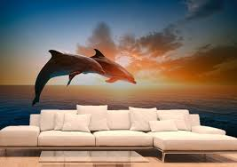 chambre dauphin poster dauphin décoration murale mammifère de l océan