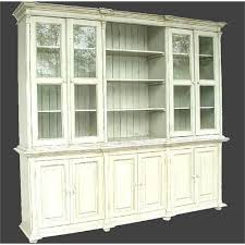 large 6 door mahogany china cabinet with lights traditional