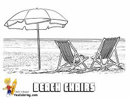 Beach Chair Colouring Picture At YesColoring