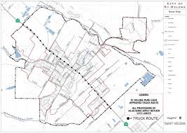 City Truck Route | City Of St. Helena