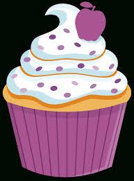 A Drawing A Cupcake Rainbow Birthday Clipart Clipart Kid