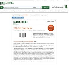 Barnes & Noble] 20% Off Coupon Code: