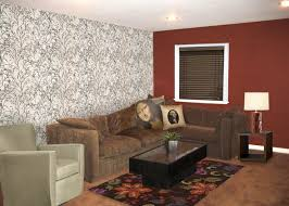 Home Living Room Ideas Elegant Brown And Red Dark Sofas Wall Sokaci With Square