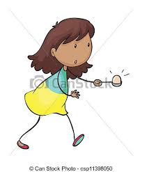Egg And Spoon Race Vector