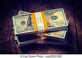 Stacks of new 100 us dollars 2013 banknotes bills Creative