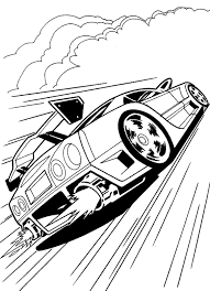 Hot Wheels Race Car Coloring Page