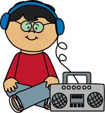 Kid Listening to Boombox Clipart Pinterest
