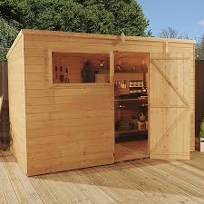 10 x 6 waltons tongue and groove pent wooden shed waltons sheds
