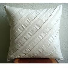 Decorative Couch Pillows Amazon by Amazon Com Cream Decorative Pillow Cover Textured Pintucks Solid