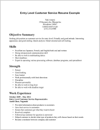 Examples Of Resumes 14928 Resume Profile Entry Level Example