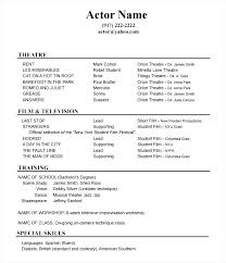 Skills Resume Samples Special Acting For Theatre Examples Example Accounting