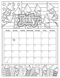 Added July 1 Get Ready To Celebrate Our Nations Birthday With Calendar A Rocket Theme Fill In Your Most Patriotic Colors PDF And