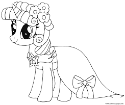 Princess Twilight Sparkle My Little Pony Coloring Pages Printable And Book To Print For Free Find More Online Kids Adults