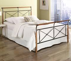 Fashion Bed Group Wood and Metal Beds King Kendall Bed w Frame