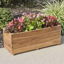 DecorationGarden Wall Planter Cedar Flower Boxes Large Wooden Planters Box Brackets Tomato