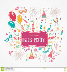 Kids Party Poster Banner Or Flyer Design