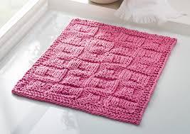 kleiner badezimmerteppich mit strukturmuster strickanleitung