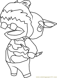 Harry Animal Crossing Coloring Page