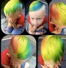 A Picture Of Young Boy With His Hair Colored The Manic Panic Dye And