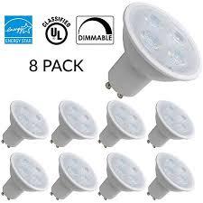 8 pack mr16 gu10 led bulb 5 watt energy 35w